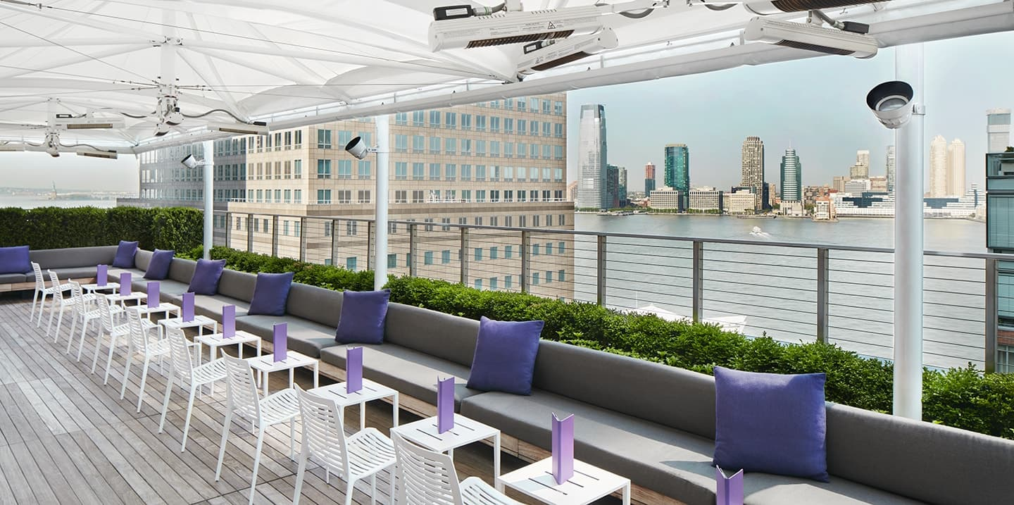 Conrad New York Downtown Loopy Doopy Rooftop Bar