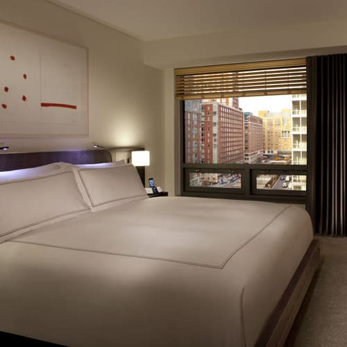 Conrad New York Downtown offers 463 spacious suites, guestrooms average more than 430 square-feet.