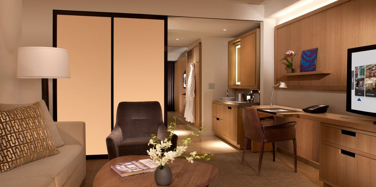 Deluxe suites conrad new york for New hotel design
